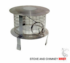 Chimney Pot Rain Cowl / Chimney Bird Guard   ( Stainless Steel)