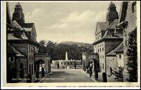 Bad Nauheim Hessen alte Ansichtskarte 1939 gelaufen Blick in den Sprudelhof