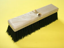 "Floor Scrub Brush 12"" wide,  Black Poly, accepts threaded or tapered handle"
