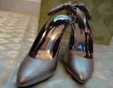 NEW J. RENEE SALSA METALLIC NAPPA LEATHER WOMEN'S SHOES  sz. 8 W