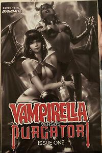 Complete Series 2021 Vampirella Versus Purgatori #1-5 Rare Variants 1:40 See Pic