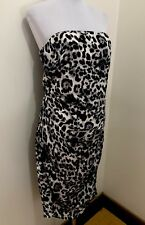 Ladoes WITCHERY Leopard Strapless Dress. Size 14. EUC