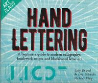 The Art of Hand Lettering: Modern calligraphy, brushwork scripts, and blackboard