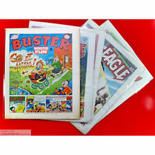 More details for buster and monster fun comic bags only clear resealable / tape shut size3 x 100