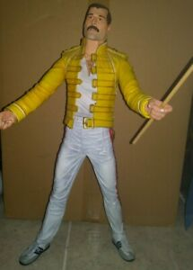 "Freddie Mercury Action Figure Live Wembley Stadium 18"" NECA 1996 RARE DEADSTOCK"