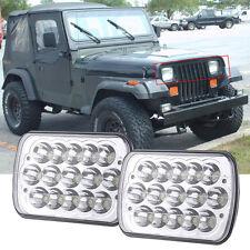 2x LED Headlight Headlamp Upgrade for Jeep Wrangler YJ 1987-1995