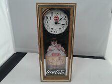Quartz operated coca cola clock