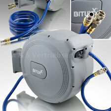 BITUXX® Druckluft Schlauchtrommel 25 Meter mit Automatik Schlauchaufroller 25m