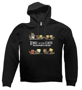 Lord of the Cats HOODIE Rings LOTR Middle Earth present gift