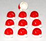 LEGO LOT OF 10 NEW MINIFIGURE HATS RED SANTA CAPS XMAS CHRISTMAS PARTS