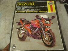 Suzuki GSXR750 GSXR1100 GSX600 GSX750 GSX1100 Haynes Manual #2055 All Pages OK
