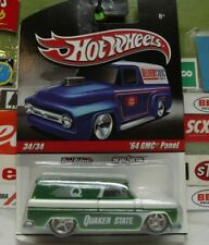 """HOT WHEELS 1:64 REAL RIDERS """"QUAKER STATE"""" '64 GMC PANEL 34/34, R3756"""