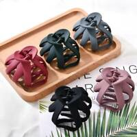 Fashion Women's Large Hair Claw Barrette Hair Crab Clamp Scrub Plastic Hairclip~