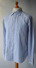 Men's Pale Blue Striped Paul Smith Jeans Long Sleeved Shirt Size L.