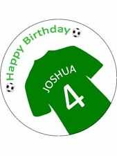 Football Shirt Green Personalised Stickers 35 x 37mm Birthday Party Gift 43