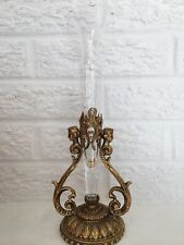 "Beautiful Vintage Gilt Metal Figural Bud Vase Epergne Victorian Style H 11"""