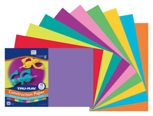 Tru-Ray Sulphite Construction Paper, 12 x 18 Inches, Assorted Colors, Pack of 50