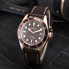 41mm Parnis Brown Dial Date Sapphire Glass Miyota Automatic movement men's Watch