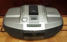 Aiwa CSD-ED37 AM/FM Stereo CD Cassette Boombox w/Digital Tuner w/ Cord WORKS! :)
