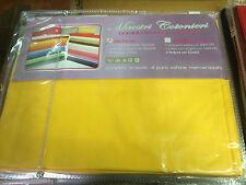 lenzuola per letto 140 una piazza e mezza francese 100% cotone nk giallo