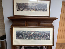 More details for two antique prints of battle of trafalga and battle of waterloo