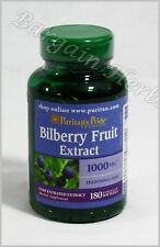 Puritan's Pride Bilberry Fruit Extract 1000mg 180 Softgels Free Shipping