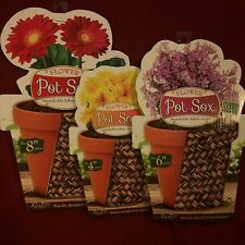 "FABRIC FLOWER POT SOX SET,4""-8"",KIMCO PRODUCT,DECORITIVE,VARIOUS OR PLAIN COLOR"
