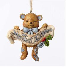 Jim Shore Boy - My First Christmas Blue Bear Ornament