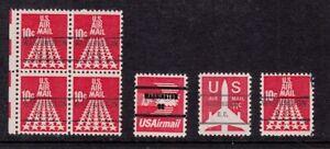 1968 Airmail Sc C72 C78b C79b Congressional Precancels