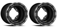"DWT G3 Black Rear MX Beadlock Wheels Rims 8"" 8x8 4/110 Honda TRX 450R 400EX 250R"
