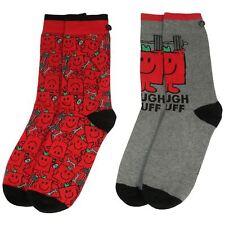 Officially Licensed 2PK Mr. Men Mr. Strong Character Assorted Socks