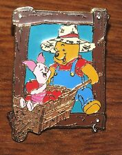Disney Winnie the Pooh - Piglet & Pooh Gardening Together in Wheelbarrow Pin!