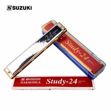 Harmonica Suzuki study-24 Tremolo 24 C Key of C 24Holes Japan brand