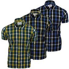 Karierte figurbetonte Kurzarm Herren-Freizeithemden & -Shirts aus Baumwolle