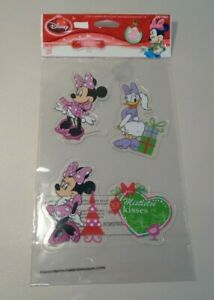 Minnie Mouse Daisy Duck New Window Christmas Holiday Gel Clings Stickers Disney