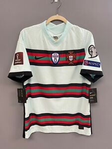 NIKE Portugal FPF Vapor Knit Match Away Mint Soccer Jersey Large Player Issue