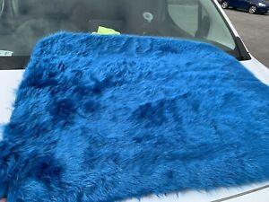 Super soft faux fur rug matt photography prop backdrop new 90x75cm blue