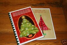 Christmas Card Address Book & Christmas Gift List Organizer Set Personalized