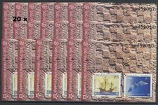 50 JAHRE EUROPAMARKEN CEPT - 2005 KROATIEN 20 x BLOCK 27 ** - MICHEL: 800,00 !!