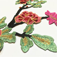 New listing Peony Flower Embroidery Patch Iron On Floral Applique Sewing Craft Decor Ic1X