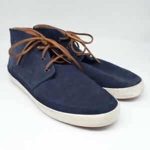 Polo Ralph Lauren ERWIN Chukka Suede Shoes Leather Laces Blue Mens 11