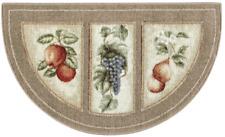 19X32 Slice Wedge Kitchen Rug Mat Lite Beige Washable Mats Fruit Grapes Pear