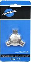 Park Tool SW-7.2 Triple Bicycle Wheel Multi-Spoke Nipple Wrench 3.23/3.30/3.45mm