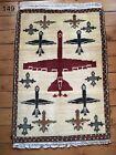 •149• Beautifully Handmade Drone Genuine Afghan War Rug, 87x60 cm