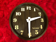 Bulova Quartz BrownWall Clock with Large Numbers Battery