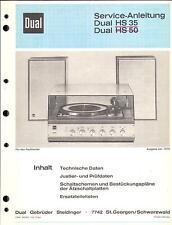 Dual service manual pour HS 35/50