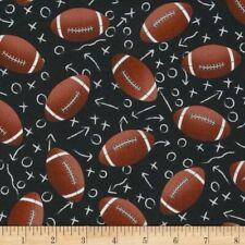 All Star Sports Football Fabric C1228 Footballs Quilt Shop Quality Cotton