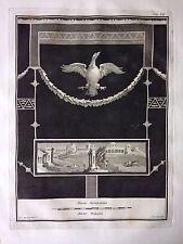 Original-Kupferstich: Fresko aus Herculaneum, um 1755, gest. von Giuseppe Aloja