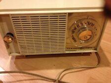 Vintage General Electric Radio Off White Plastic
