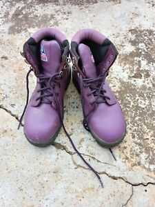 Steel Blue Argyle Ladies Safety Toe Cap Work Boots 512702 Purple Size 7 used